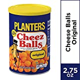 PLANTERS Cheez Balls 2.75 oz. Canister (Pack of 12) | Nostalgia Flavor Cheese Snack | Shareable Snacks for Adults & Snacks for Kids | Bulk Snacks | Great Movie Snacks & Game Day Snacks | Kosher