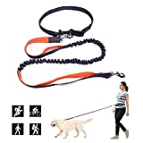 PetforCity Hands Free Dog Running Leash Dual Handle for Control Shock Absorbing Bungee Adjustable Belt Fits up to 47""