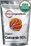 Micro Ingredients USDA Organic Curcumin 95% (Turmeric Curcumin Extract) Powder - Powerful Anti-Inflammatory Antioxidant (55 gram / 1.94 oz) Natural Curcumin Supplements