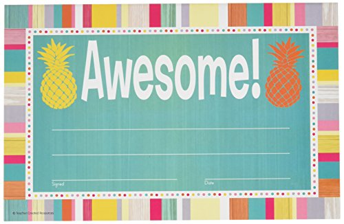 - Teacher Created Resources Tropical Punch Awesome Awards