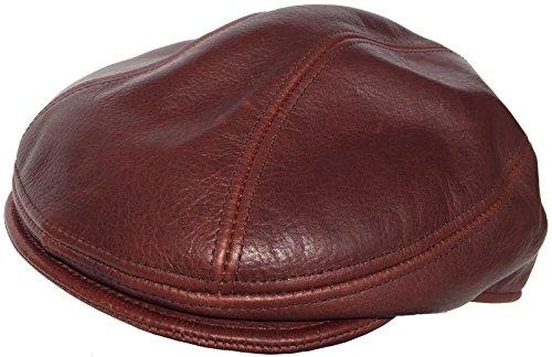 Broner Leather Ivy Scally Cap (Brandy, M/L)