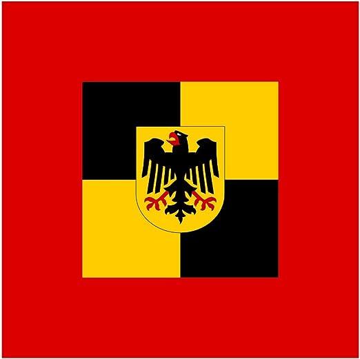 Diplomat Flagge Bundeswehr Inspekteure Teilstreikraefte Fahne 0 06m 25x25cm Für Flags Autofahnen Garten