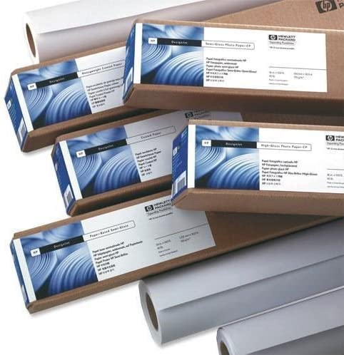 HP Bright White 420 mm x 45.7 m (16.54 in x 150 ft) - Papel para plotter: Amazon.es: Oficina y papelería