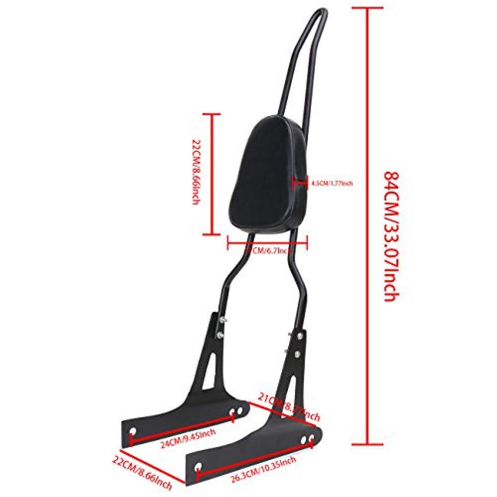 Jade Detachable Backrest Sissy Bar Luggage Rack For Harley-Davidson Dyna Fxd Fxdb Fxdc Fxdl Fxdwg Fxdse