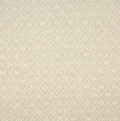 Champagne Beige Tan Taupe White Country Lodge Cabin Foliage Brocade Matelasse Upholstery Fabric by the yard (Brocade Taupe)