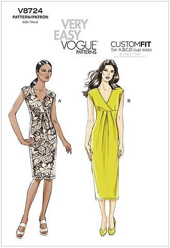 Size BB 8-10-12-14 Vogue Patterns V8665 Misses Petite Dress