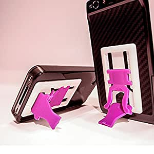 SlideStand Stand for Smartphones - White & Pink