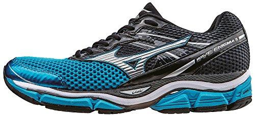 Mizuno Wave Enigma 5, Chaussures de Running Compétition Homme Bleu - Blue (Atomic Blue/Silver/Ombre Blue)