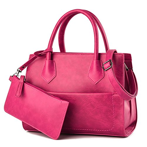 flake-rain-womens-classical-joker-pure-color-pu-leather-handbag-rosered