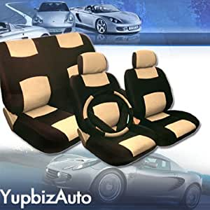yupbizauto universal size synthetic leather car seat covers set for ford mustang and. Black Bedroom Furniture Sets. Home Design Ideas