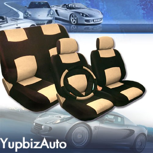 Universal Size PU (Synthetic) Leather Car Seat Covers Set All Small, Mid Size Cars with Regular Bucket Seats - Car Seat Cover Toyota Corola
