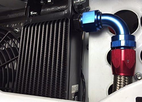235mm Matrix 12 AN JIC MOTAMEC Oil Cooler 34 Row Black Alloy