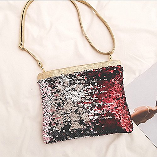 Cross Clutch Evening Zipper Handbag Sequins Shoulder Body Envelop Sparkle Gold Handbag Bag Amily ZTUan