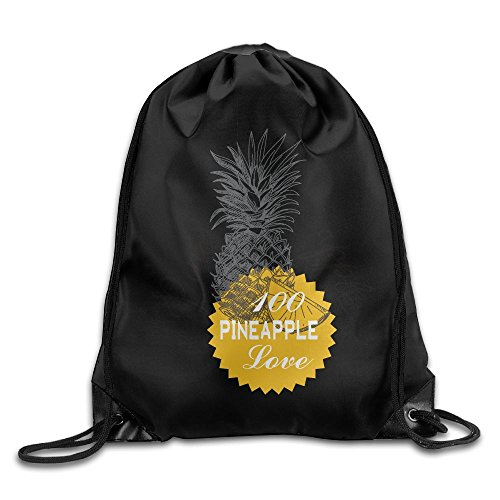 Drawstring Backpack Art Design Print Rucksack Shoulder Bags Gym Bag Cool Pineapple Love 2017 New Arrives 17