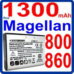 1300mAh Li-Ion Battery for Magellan RoadMate 800 , 860 , 860T GPS from DekCell