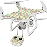 MightySkins Protective Vinyl Skin Decal for DJI Phantom 4 Quadcopter Drone wrap cover sticker skins Electric Palms