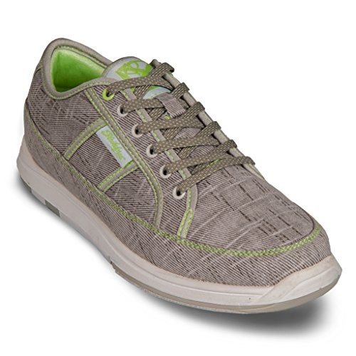 KR Strikeforce Women's Ivy Bowling Shoes, Grey/Paradise Green, 7.5