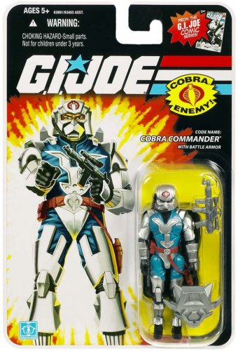 G.I. JOE Hasbro 3 3/4 Wave 6 Action Figure Cobra Commander Battle Armor