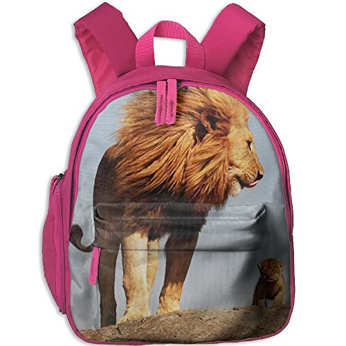 Kids Lion Tamer Costumes (Papa Lion Like Father Like Son Kids Lightweight Travel Backpacks Daypack Pink With Adjustable Shoulder Strap For Travel Or School)