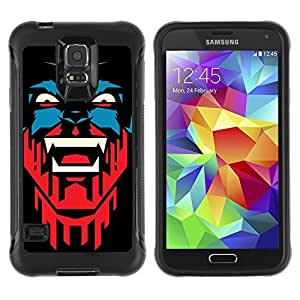 Hybrid Anti-Shock Defend Case for Samsung Galaxy S5 / Cool Vampire