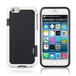 QYF Dual-color Diamond Patern Hard Phone Case for iPhone6 , Matt gray