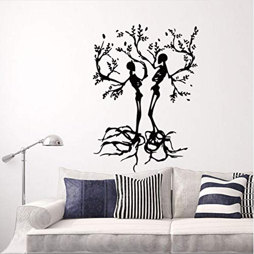 - Skeleton Tree Vinyl Wall Stickers Home Decor Living Room Removable DIY Art Mural Decals 8057cm