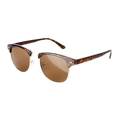 tortoise shell clubmaster  Retro Vintage Style Gold Clubmaster Wayfarer Sunglasses Tortoise ...