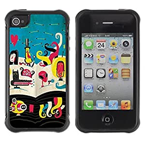 fashion Anti-Shock Defend Case for Apple iPhone 5c for kids / Abstract Alien