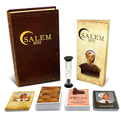 Salem 1692 Board Game - Witch Hunt Game for Friends and Family - 3rd Edition - A Game of Cards, Strategy, Deceit, and Luck for 4-12 Players (Best Board Games For Groups Of Adults)