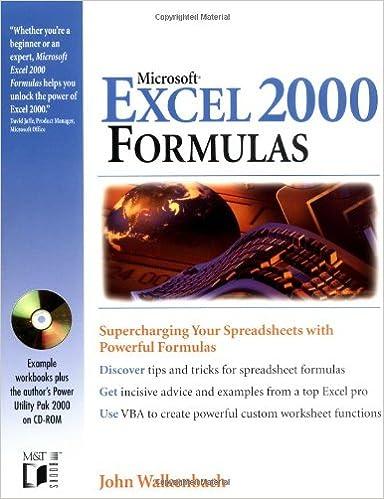 Microsoft Excel 2000 Formulas: John Walkenbach: 0785555018594 ...