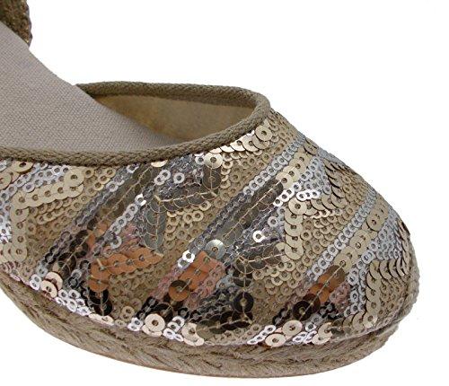 Toni Pons CORFU -5LJ Gold plati Shoe Fantasy Sandal Espadrilles Rope 33 5eFdXxv7A