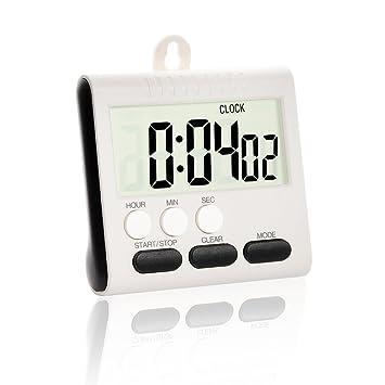 Temporizador digital de cocina/reloj, temporizador de alarma de cocina/Cronómetro de cocción