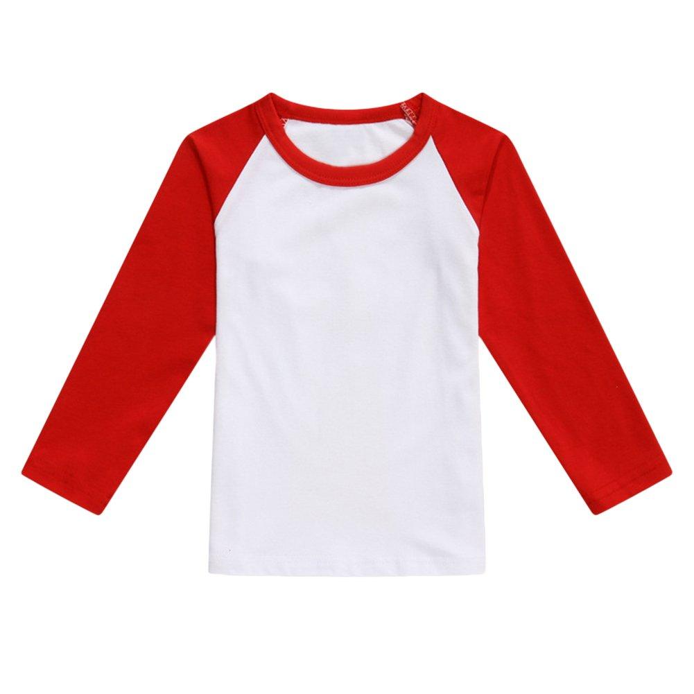 Unisex Kids Baseball T Shirt Top Long-Sleeve Raglan 3/4 Sleeve MN-lfb-20180109-12-09