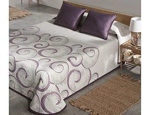 Textilhome - Funda Cojín ATICA 50x60 cm. Color Malva