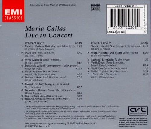 Maria Callas: Live In Concert by EMI Classics