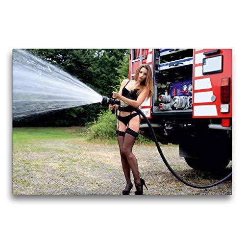 CALVENDO Thomas Siepmann Toile Textile de qualité supérieure Motif Calendrier de Pompiers II 75 x 50 cm Toile Murale Hommes