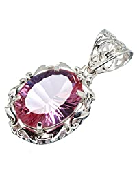 "Ana Silver Co Color Change Alexandrite (lab.) 925 Sterling Silver Pendant 1 1/2"" - Handmade Jewelry PD603080"