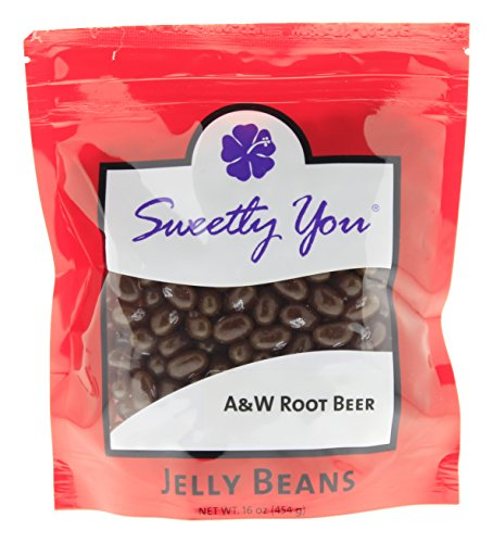 Jelly Belly 16 OZ A&W Root Beer Flavored Beans.  bulk jelly