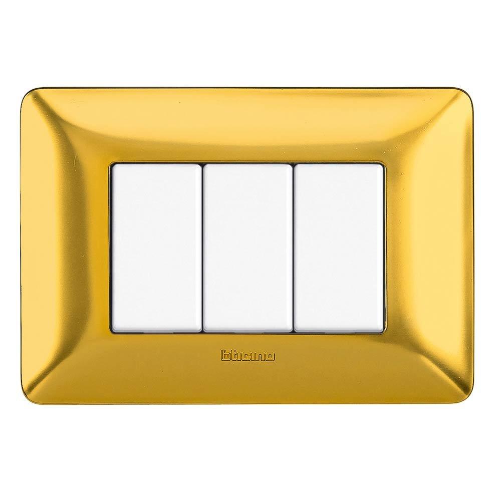 Bticino AM4803CRD Placca Matix 3 Moduli Corallo