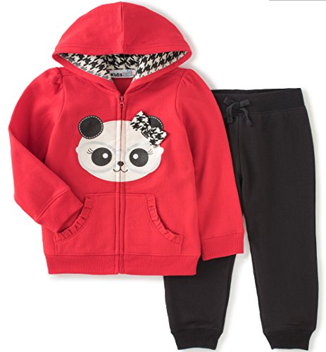 Kids Headquarters Baby Fleece Jog Set with Kangaroo Pockets,