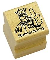 Elbi Lehrerstempel: Rechenkönig aus Holz - K1/6