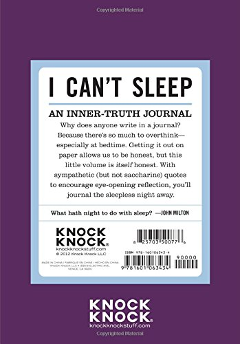 Knock Knock Mini Inner Truth Journal I Cant Sleep 4 X 575 Inches