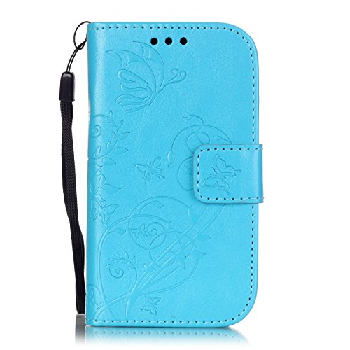 samsung s3 mini case retro blue - 1