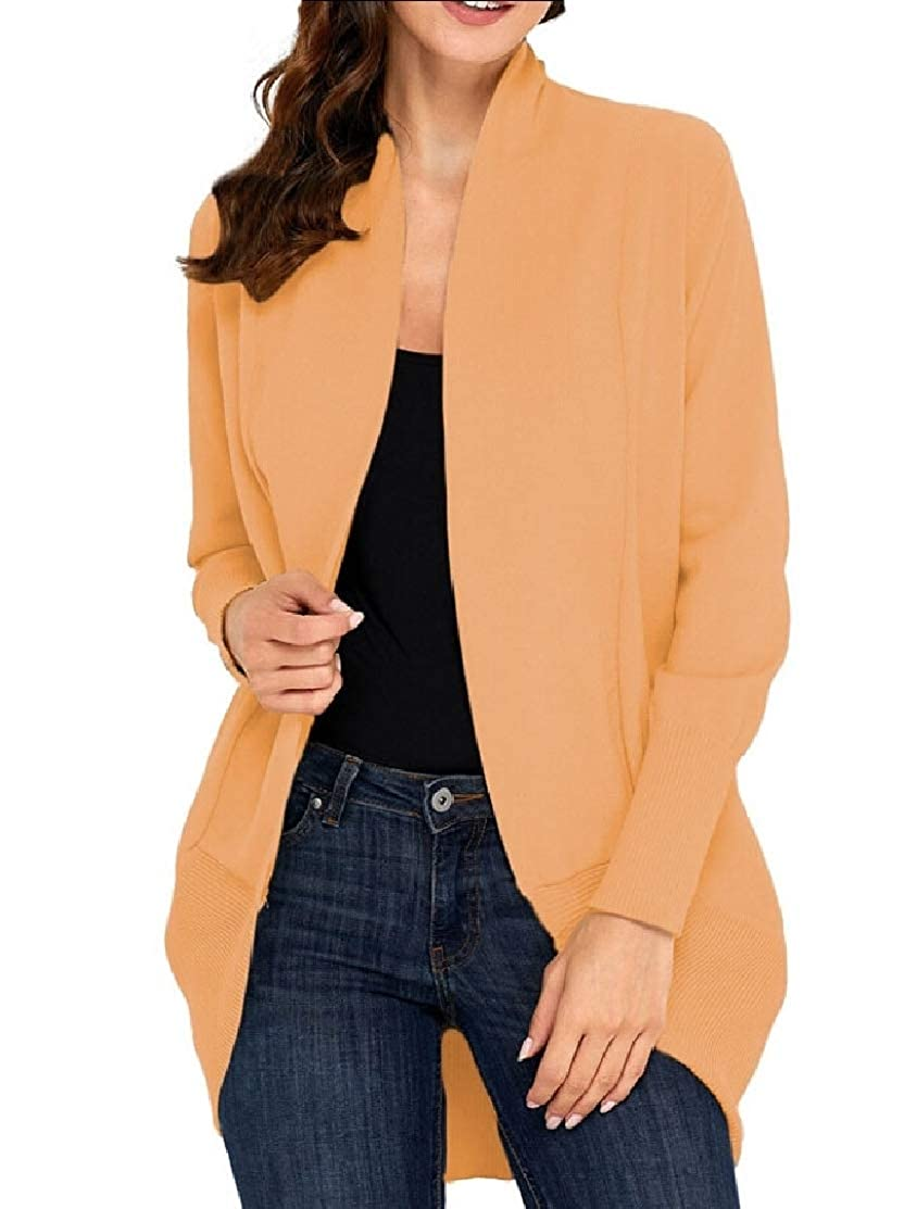 M/&S/&W Women Casual Open Front Cable Knit Cardigans Long Sleeve Sweater Coat