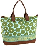 Amy Butler Marni Duffel Bag,Poppies Green,one size