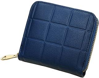 Mini Slim Wallet Femmes utiles Grille Multicard portefeuilles Porte-monnaie, H Blancho Bedding