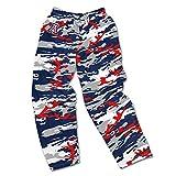NFL Arizona Cardinals Men's Zubaz Camo Print Team Logo Casual Active Pants, Small, Red/Gray/Black