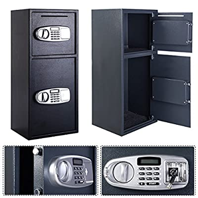 Double Door Digital Safe Depository Drop Box Safes Cash Office Security Lock Easy Access Deposit Slot Makes It Simple To Leave Deposits At The End Of The Day