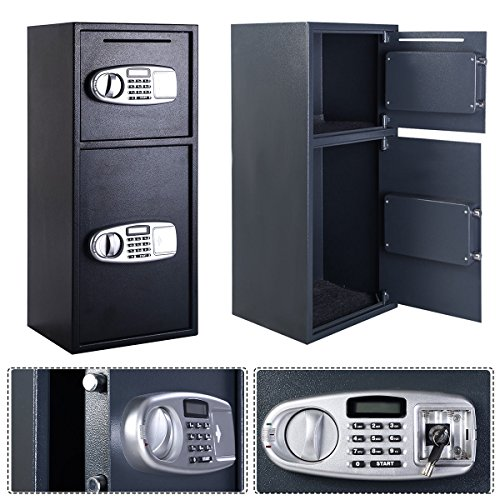 Giantex Double Door Digital Safe Depository Drop Box Safes Cash Office Security Lock by Giantex (Image #1)