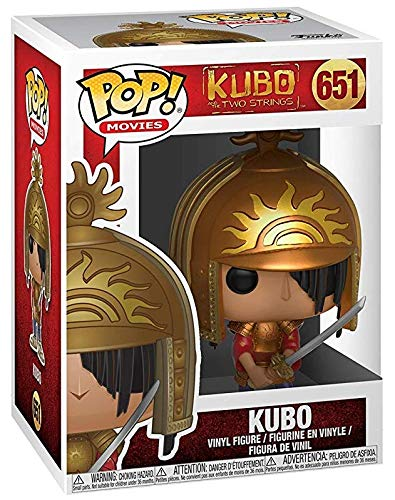 Bundled with Pop Box Protector Case Kubo and The Two Strings Kubo in Armor Vinyl Figure Funko Pop Movies